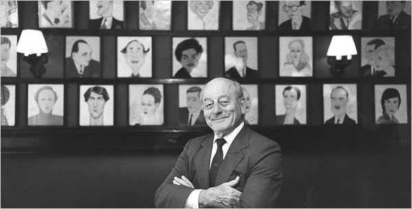 Vincent Sardi, Jr. owned and managed Sardi's for over 50 years