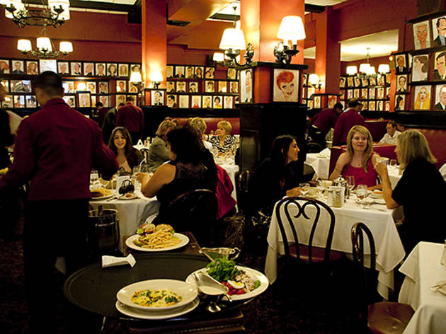 The caricature of Lucille Ball and hundreds of others hangs in Sardi's main dining room