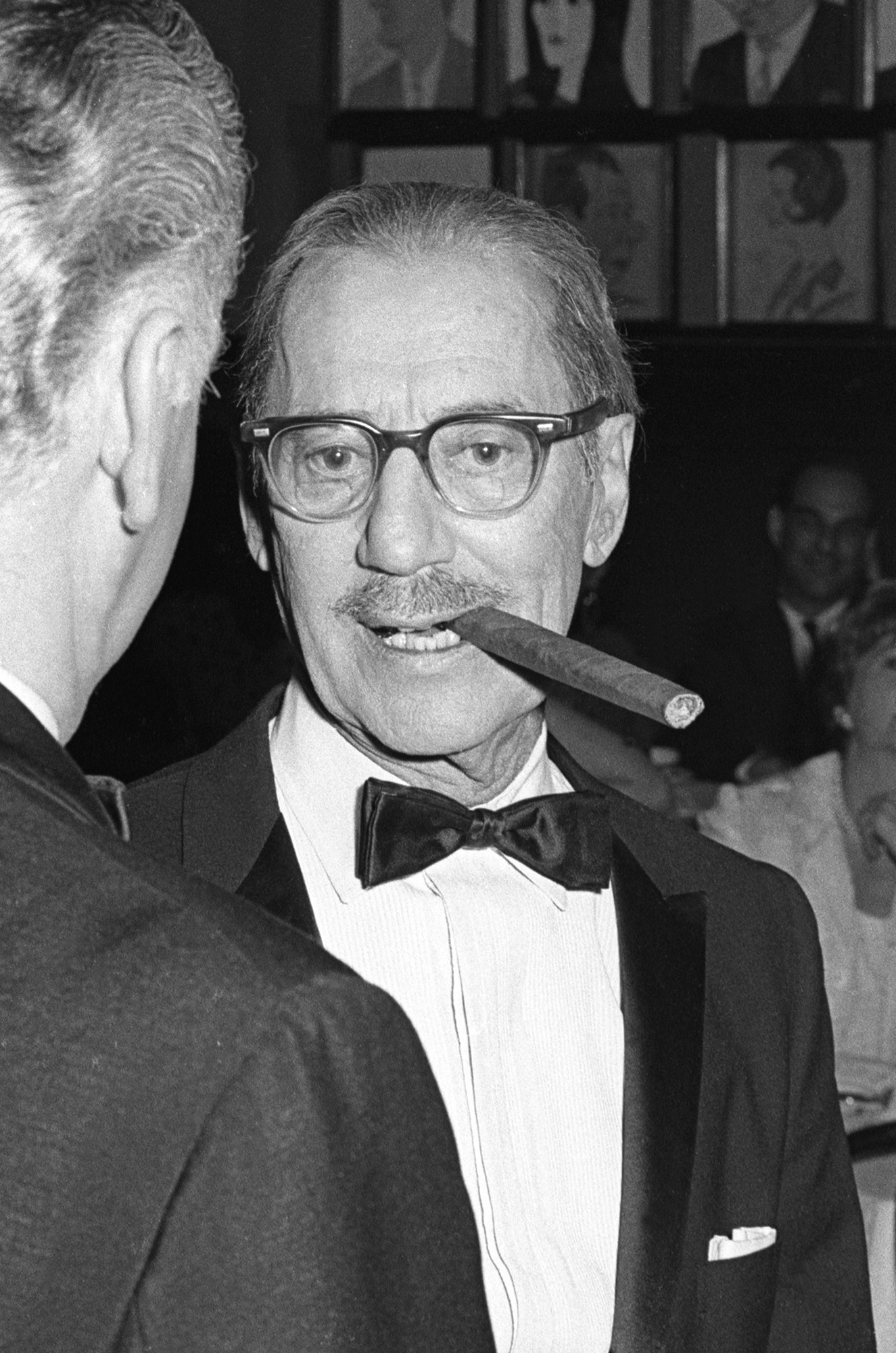 Groucho Marx dining at Sardi's, 1968