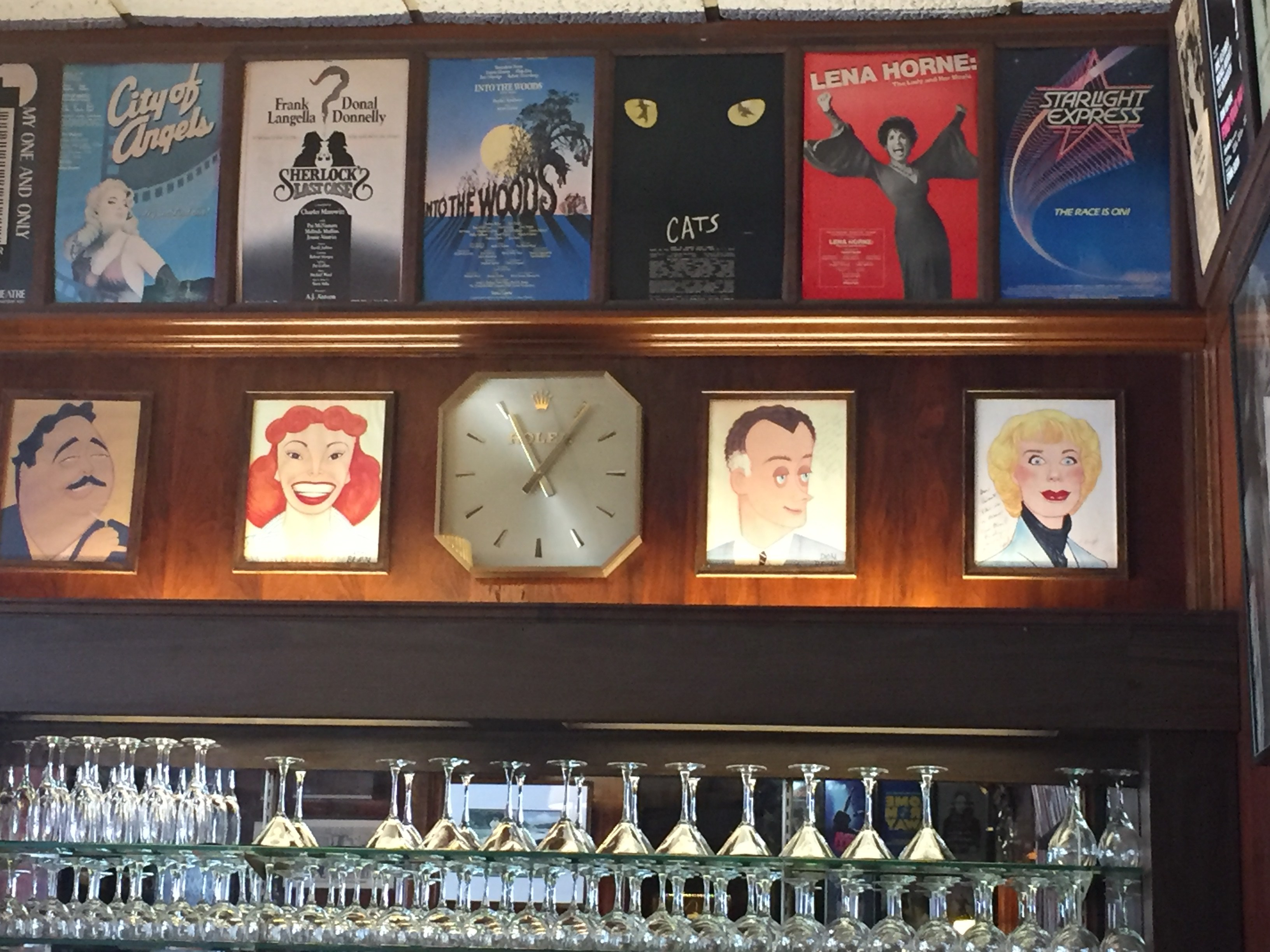 "Sardi's ""Little Bar"" on the main level features the caricatures of one of New York's most beloved shows, ""The Honeymooners."" From left to right: Jackie Gleason, Audrey Meadows, Art Carney, and Joyce Randolph"