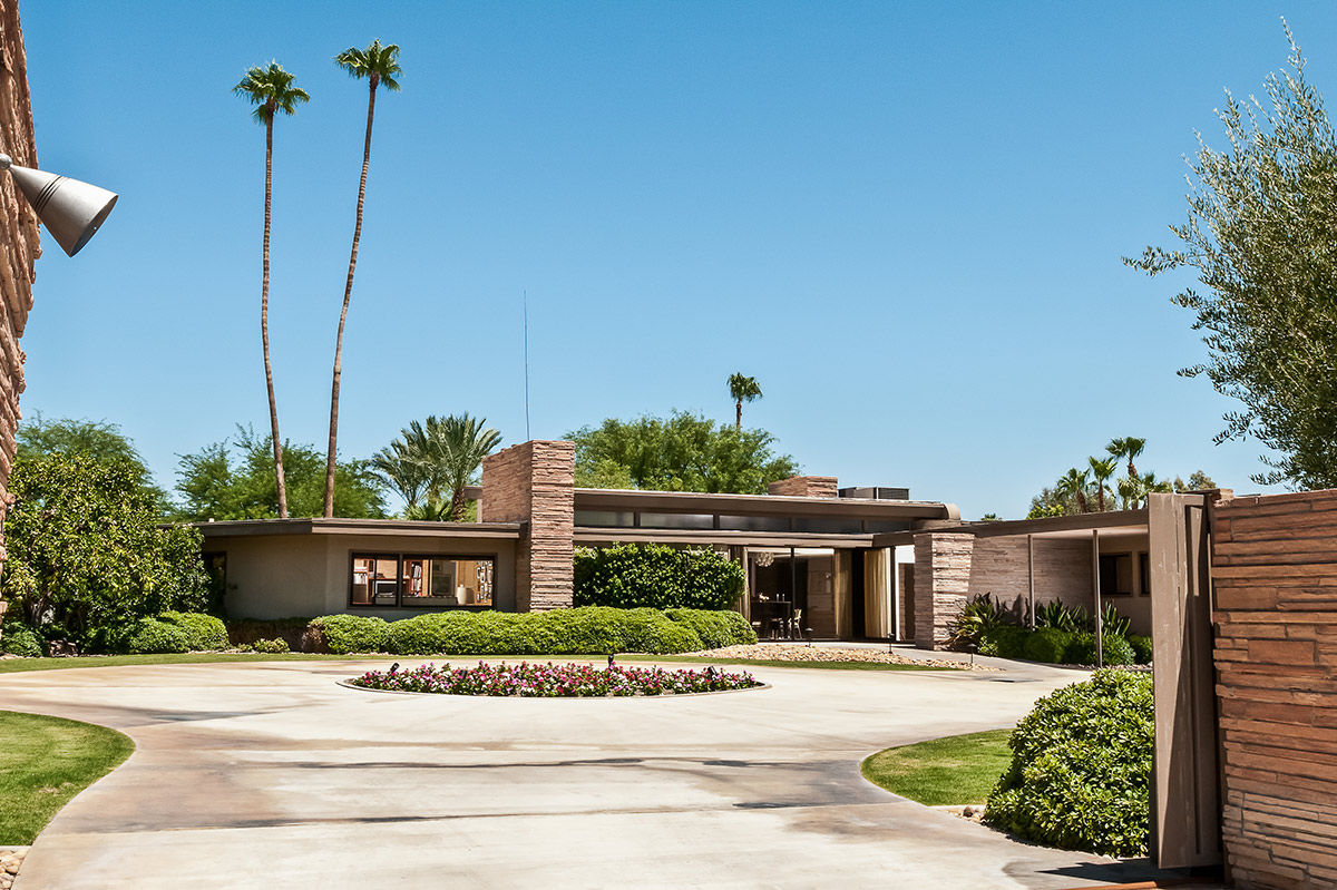 The Front of the Twin Palms Estate