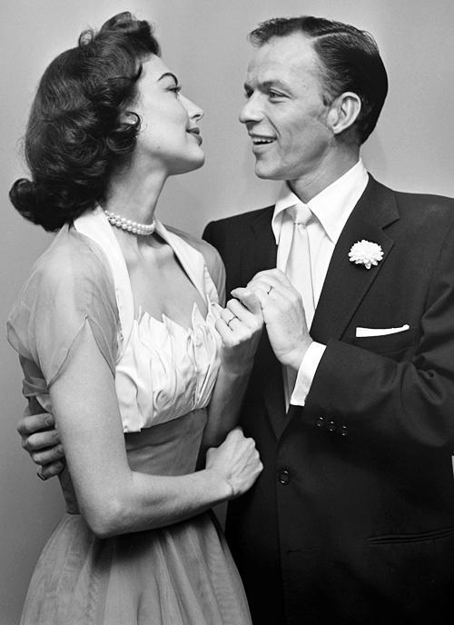 Frank Sinatra and Ava Gardner on Their Wedding Day, November 7, 1951