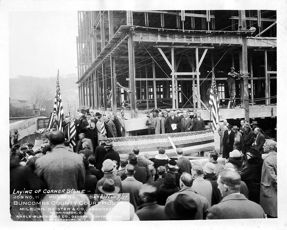 1927 public celbration of the laying of the cornerstone
