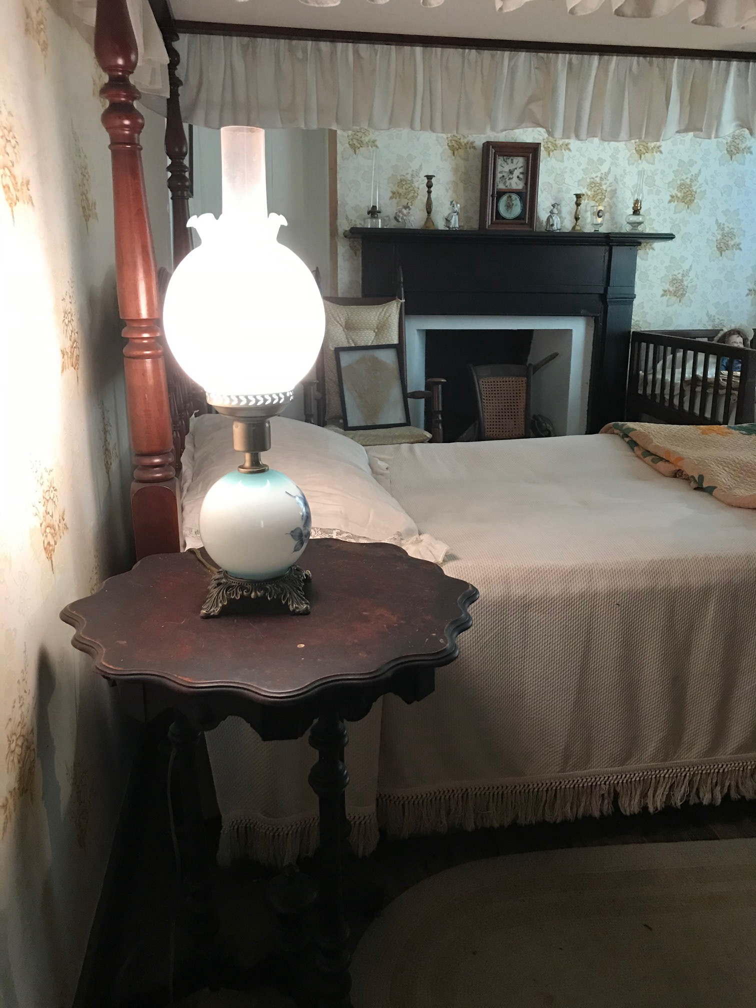Bedside table which sat by John C. Calhoun on his deathbed