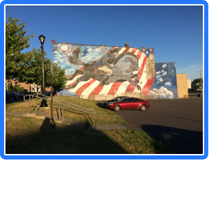 A view of the mural from June, 2018