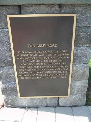 Photograph of the Old Army Road Historical Marker.