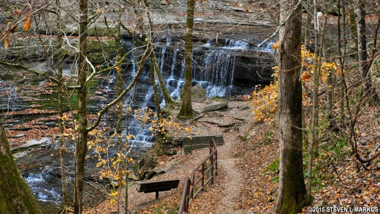 A view of Jackson Falls, Tennessee. Photo: National Park Planner - Jackson Falls, Natchez Trace.