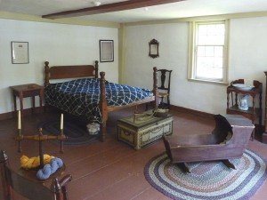 """Best room"" or master bedroom (image from the Arlington Historical Society)"