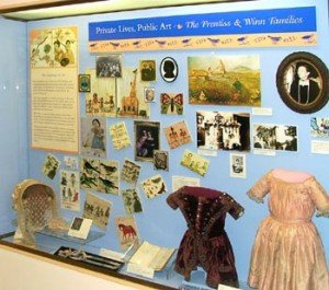 """Family Ties"" display in the adjoining Smith Museum (image from the Arlington Historical Society)"