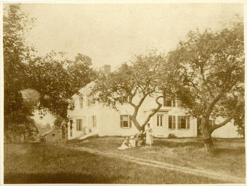 Oldest known photograph of the Jason Russell House (image from the Boston Globe)