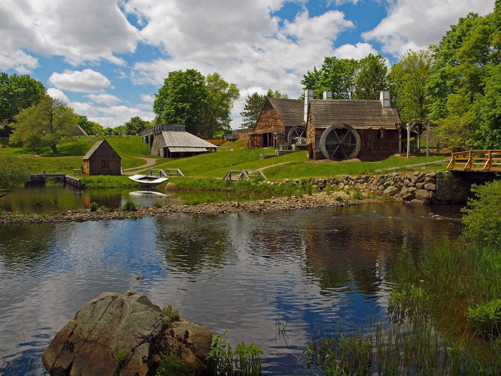Saugus Iron Works National Historic Site (image from the National Park Service)
