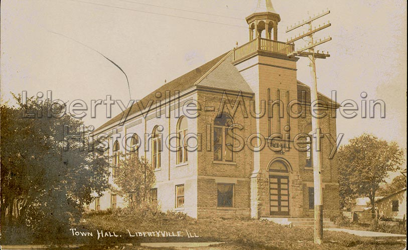 Libertyville Town Hall, early 1900s