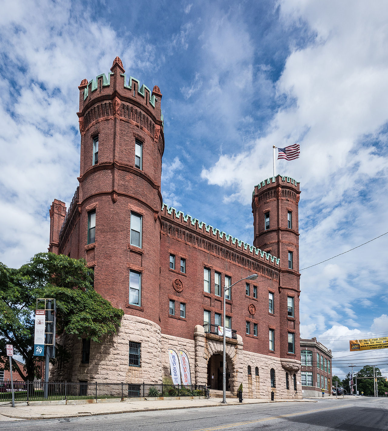 The Pawtucket Armory was built in 1895. Today, it's a performing arts and events venue.
