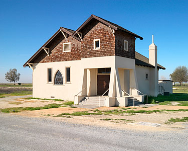 Allensworth's baptist church was dedicated in 1916 and restored in the 1990s.