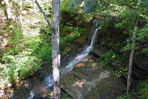 One of the Fall Hollow Waterfalls. Photo courtesy of NatchezTraceTravel.com