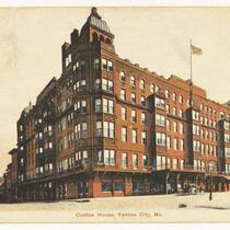 A postcard featuring the Coates House Hotel in its prime.