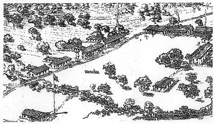 1860 sketch of fort