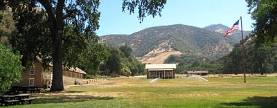 Parade ground at Fort Tejon