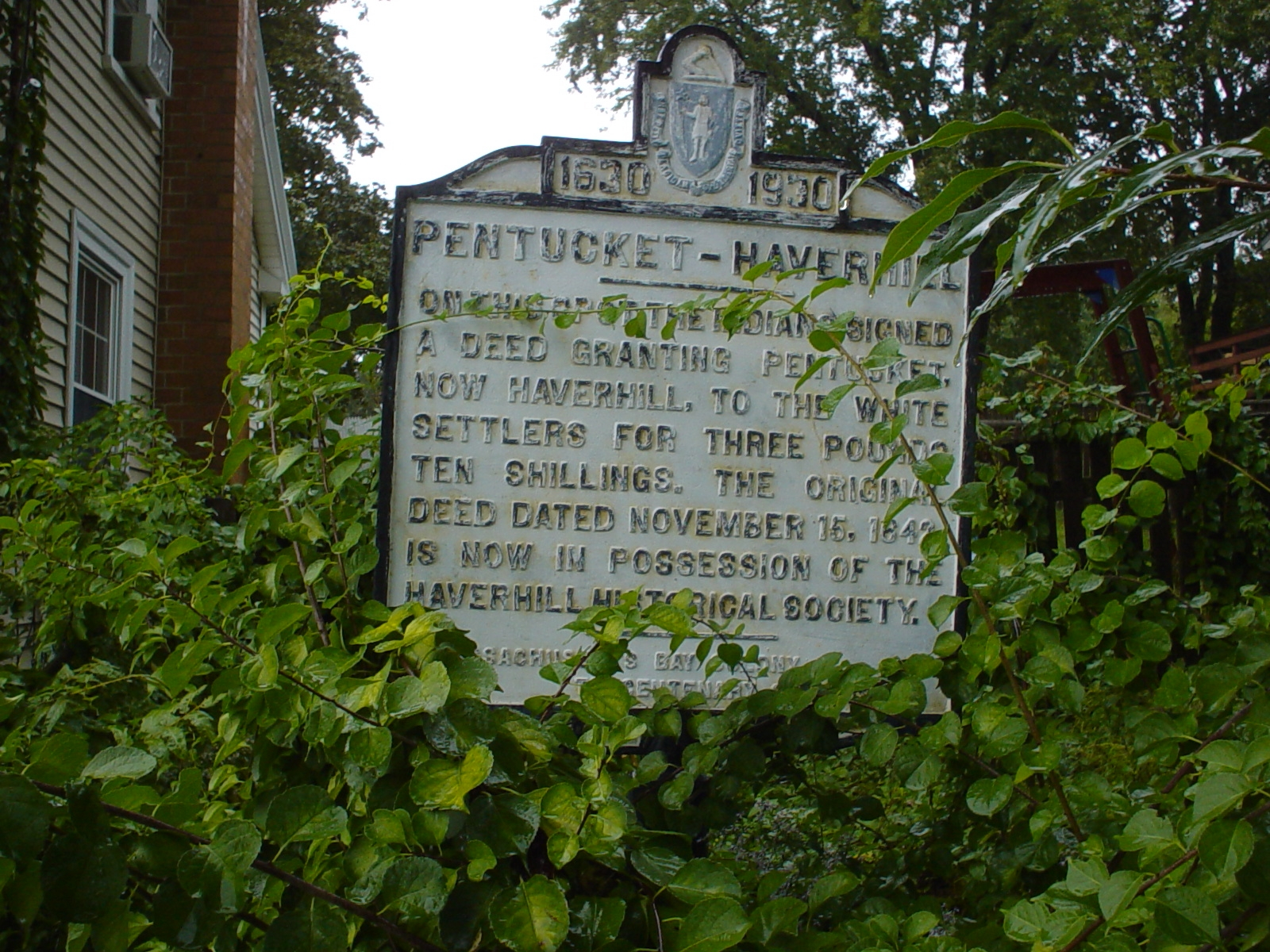 The marker is located on Mill Street opposite the Linwood Cemetery.