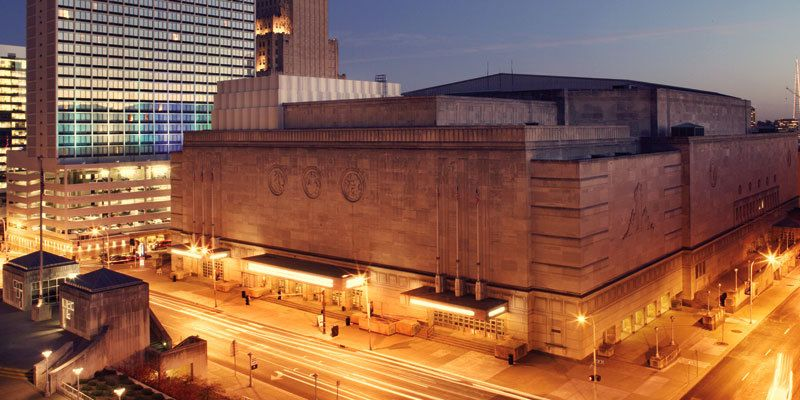 The Art Deco-style Municipal Auditorium is a landmark structure in downtown Kansas City and has hosted numerous events. Image obtained from Visit KC.