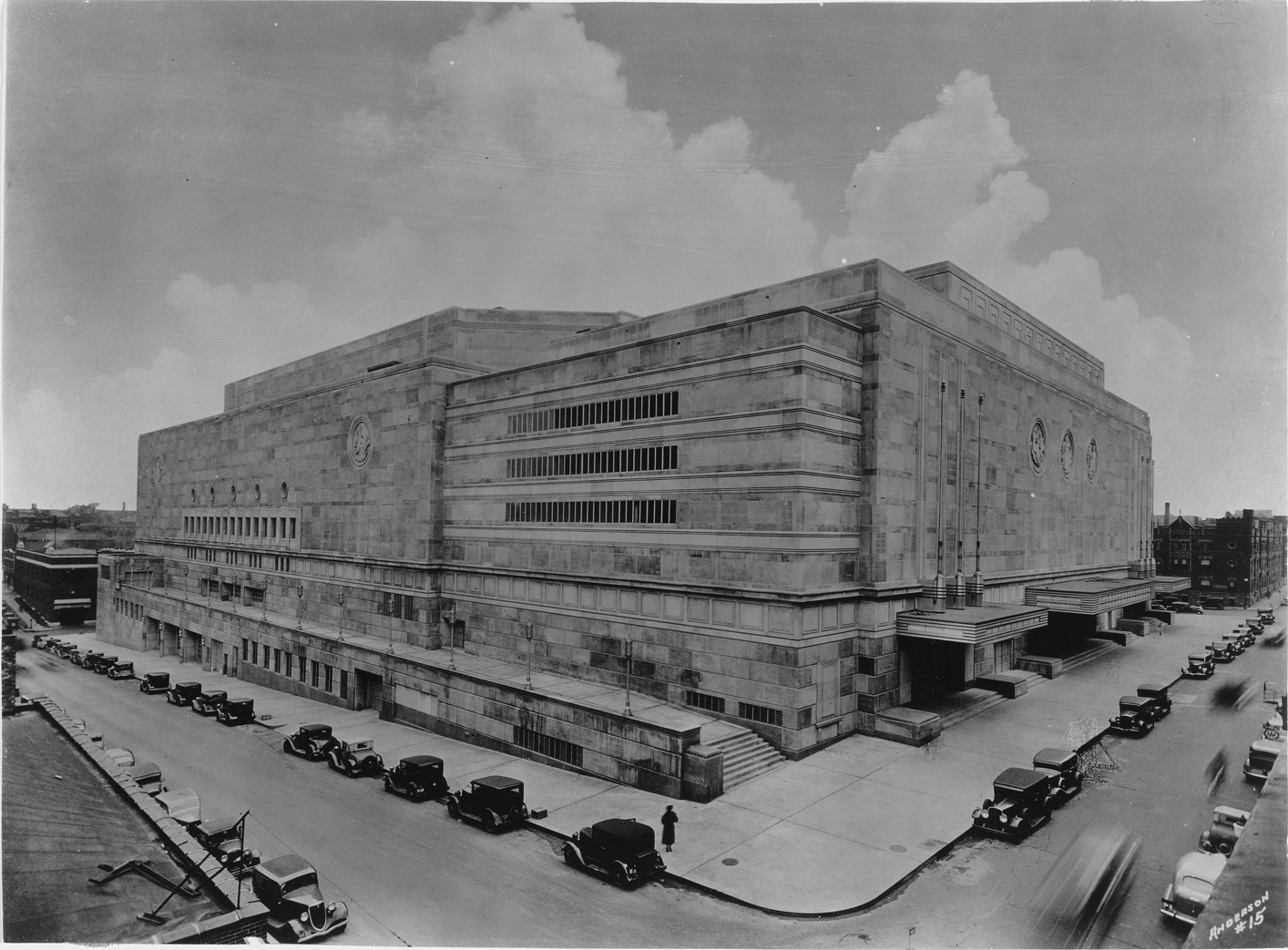 The Municipal Auditorium sometime after its completion in the 1930s. Image courtesy of the Missouri Valley Special Collections.