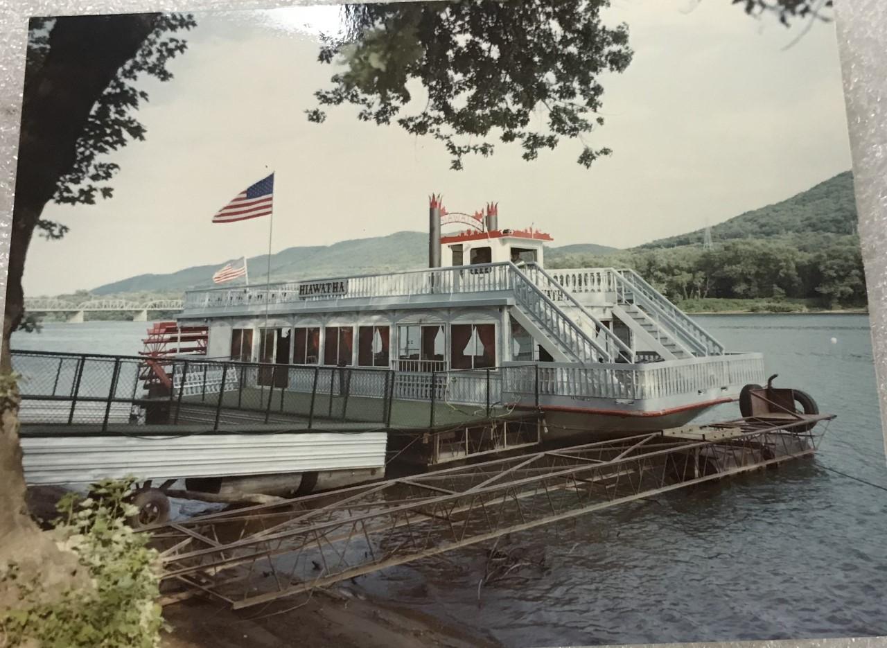 Hiawatha docked at Susquehanna State Park 1983