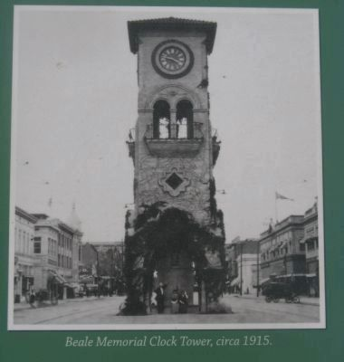 The original tower in 1915