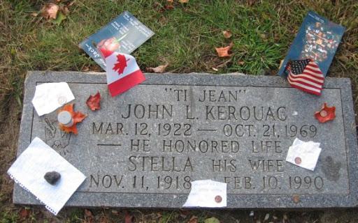 Kerouac's original grave stone, inscribed with his birth name, John