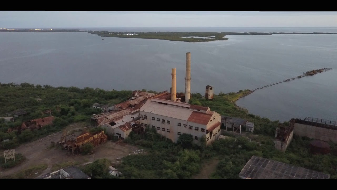 A view of the Aguirre Sugar Refinery from the sky.