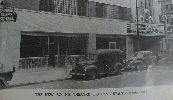 The Ro-Na theater before its grand opening in 1949.