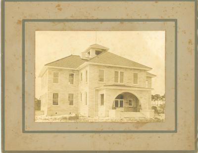 A historic photo of the school from the current museum website.