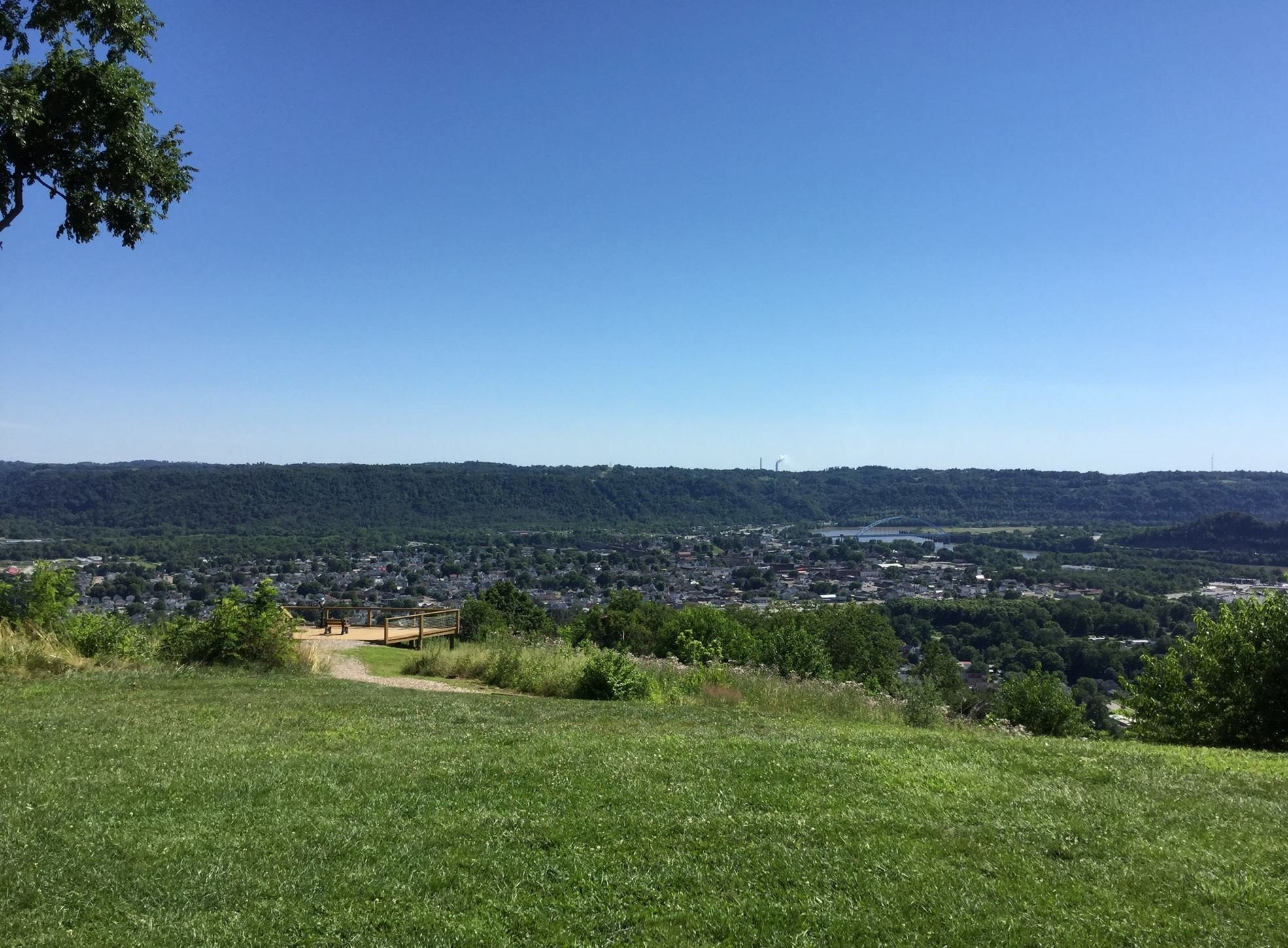 The view of Moundsville from Grand Vue Park's overlook. (Photo courtesy of Susan Jones)