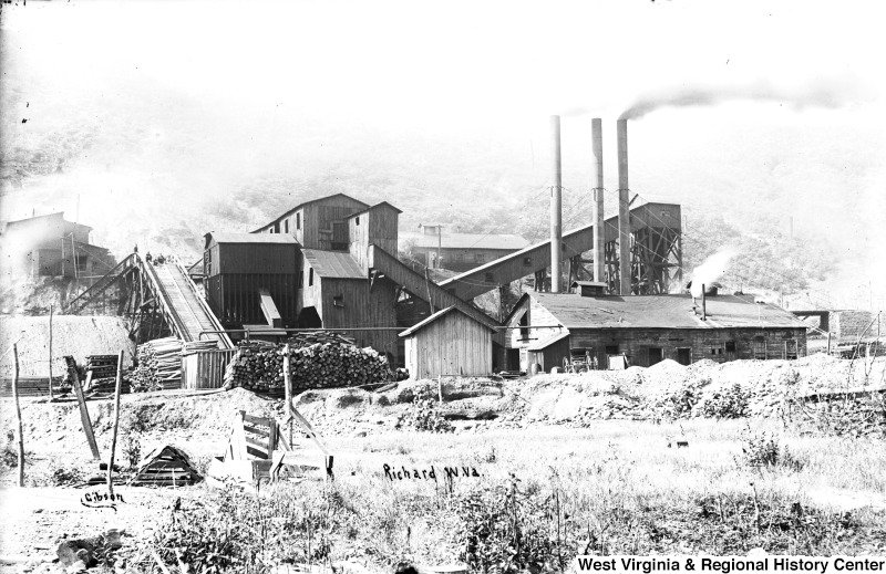 The Richard Mine, established in 1903 by the West Virginia Coal Company and later owned by Stephen B. Elkins, produced coke derived from coal. Courtesy of West Virginia and Regional History Center, WVU Libraries.