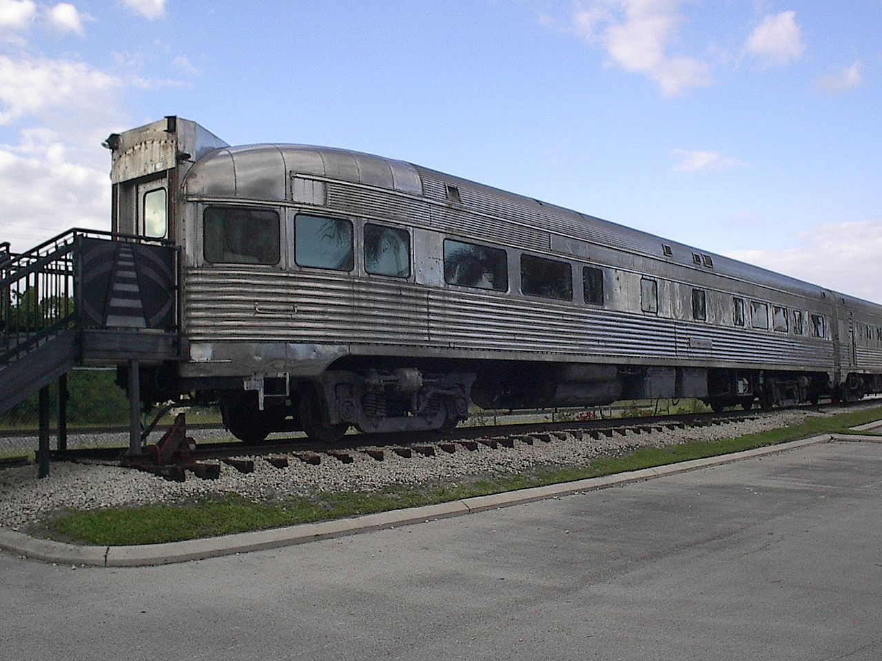 One two of the railcars on display at the museum. Visitors are allowed to go inside both.