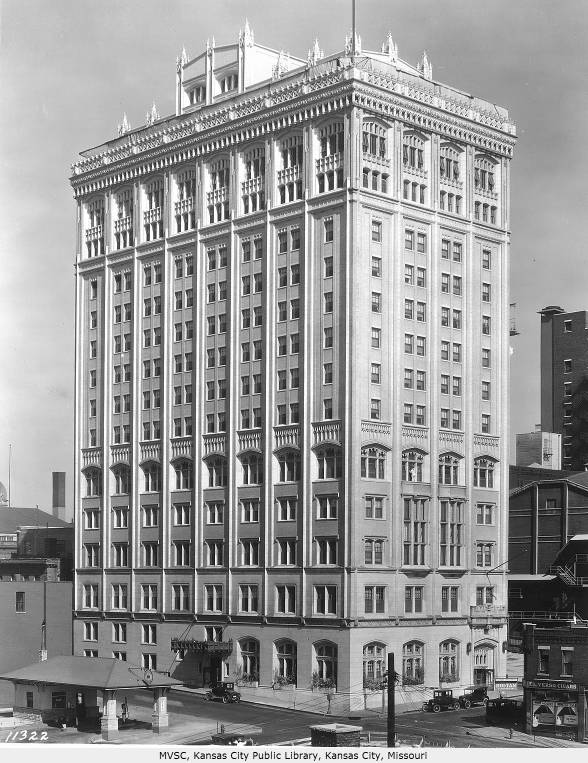The Gothic Revival 14-story building was constructed in 1917-1922. Image obtained from Helix Architecture + Design.