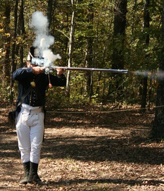 War of 1812 reenactment along the Natchez Trace. Photo courtesy 2011 Kimes Craft Fair