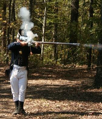 War of 1812 reenactment along the Natchez Trace. Photo courtesy 2011 Kimes Craft Fair