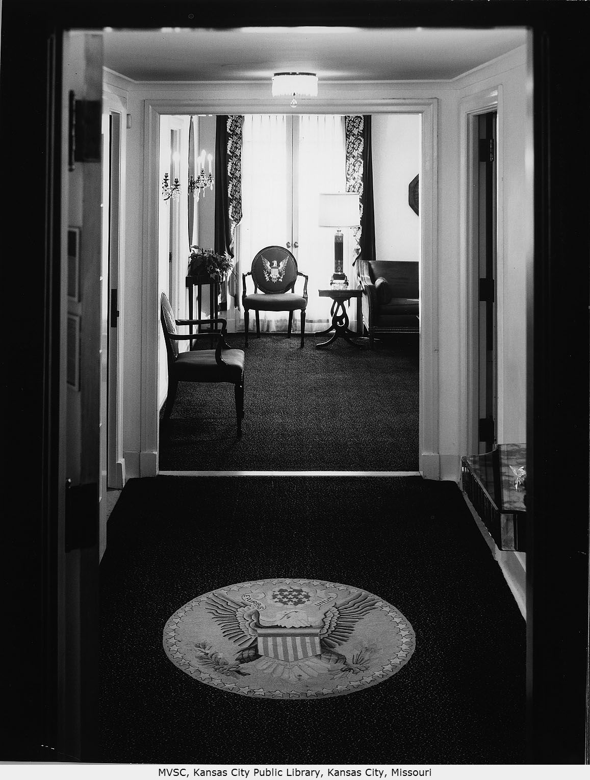 The Presidential Suite hosted a number of presidents, most notably Harry S. Truman. Image courtesy of the Missouri Valley Special Collections.