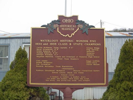 Back of Ohio Historical Marker