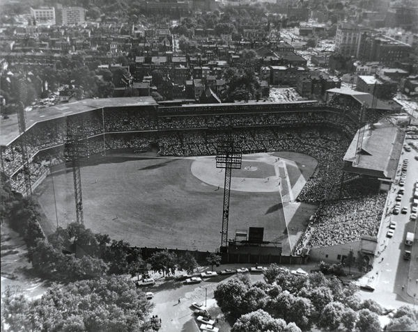Forbes Field, one of the first all steel and concrete ballparks of its kind. The structure was to make the park stand longer and be more durable.