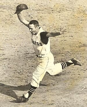 One of the most famous pictures and events of Pittsburgh Pirates history. Bill Mazeroski hits a walk-off in game seven of the 1960 World Series, to bring the title home to Pittsburgh.
