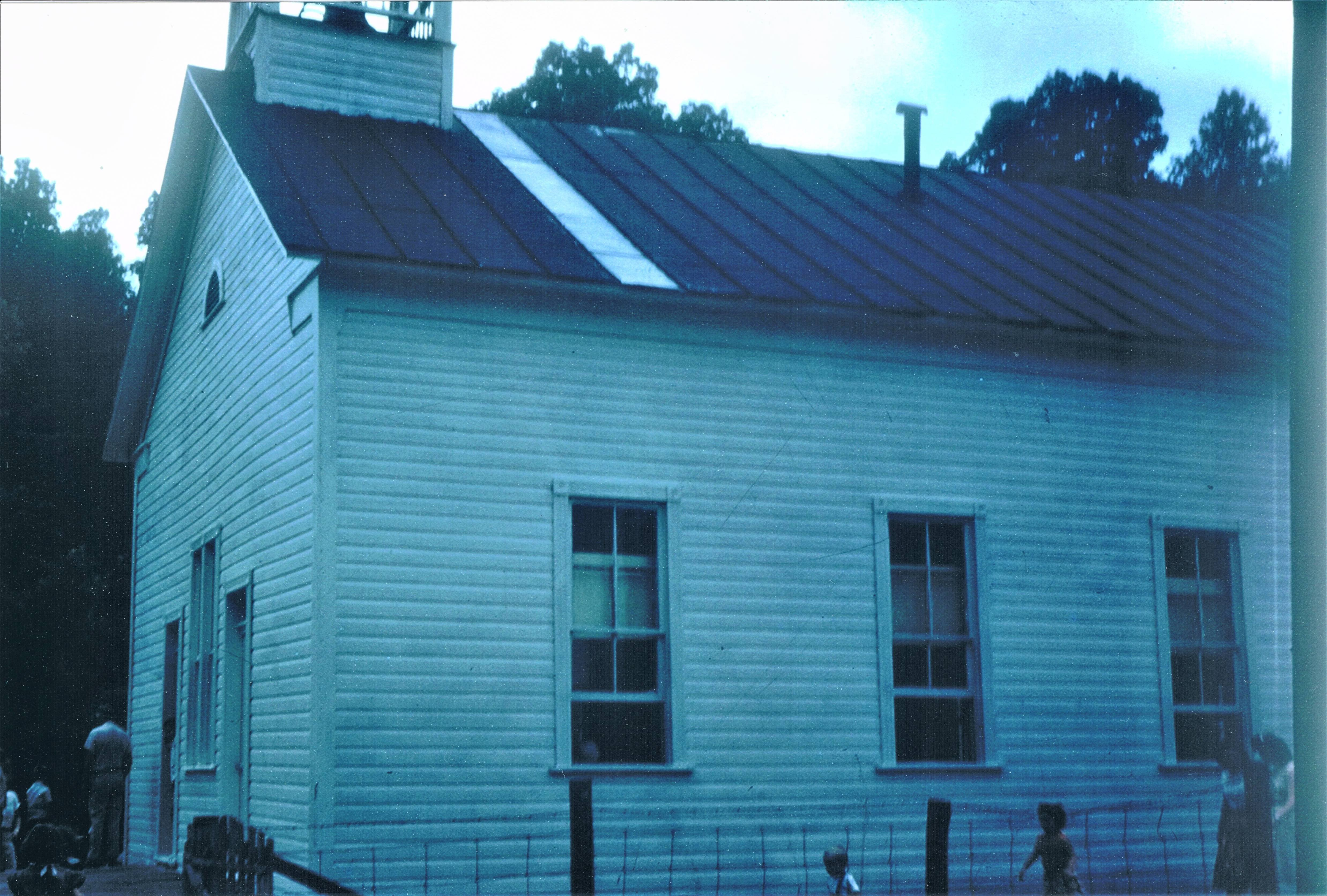 Walnut Fork Church as it appeared in the 50's/60's. Note the original entrance. This was modified soon after this photo was taken.