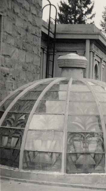 Image 6, View of dome with original stained glass