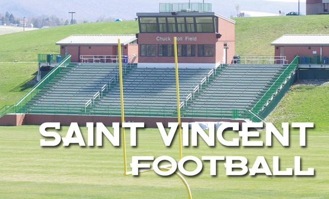 The image of Chuck Noll field, home of the Saint Vincent Bearcats polished up without any fans.