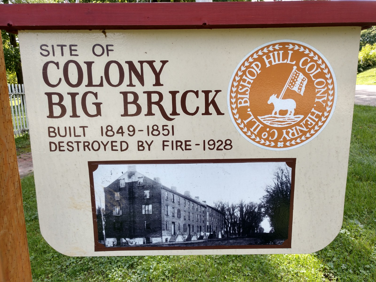 Site of Big Brick - Begun in 1848 and Finished in 1851 it Collapsed in 1928