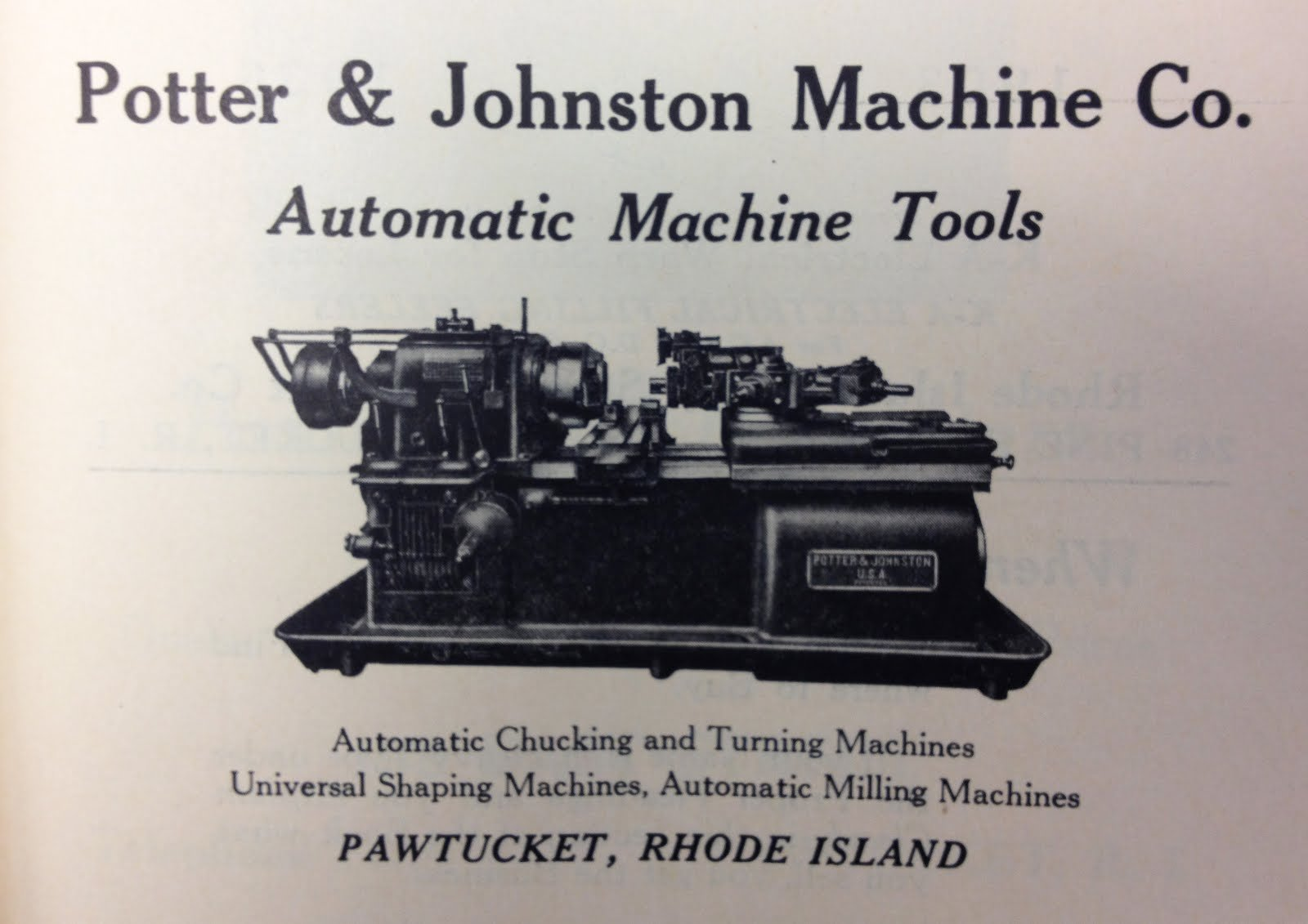 A brochure from Mr. Potter's original company, demonstrating that work truly does come before play.