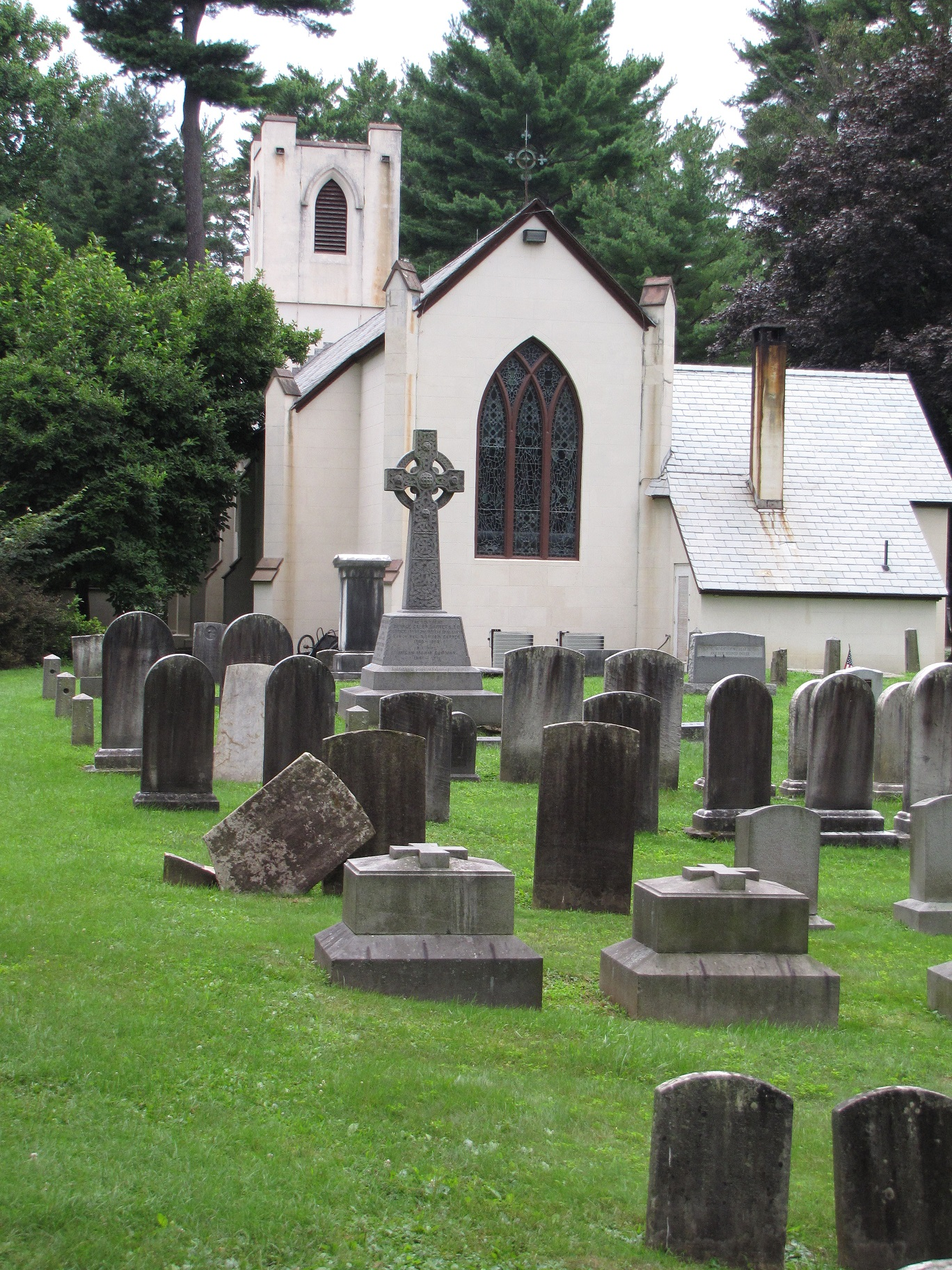 The cemetery at St. James' where members of prominent New York families, including the Roosevelts, are buried