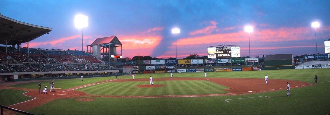 McCoy Stadium: a panoramic view.