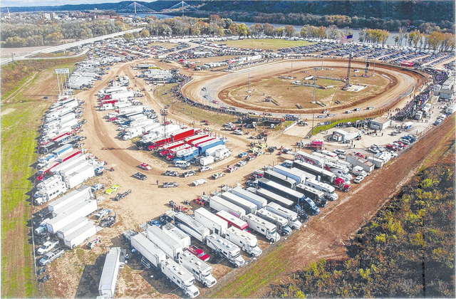 A birds-eye-view of the Portsmouth Raceway Park