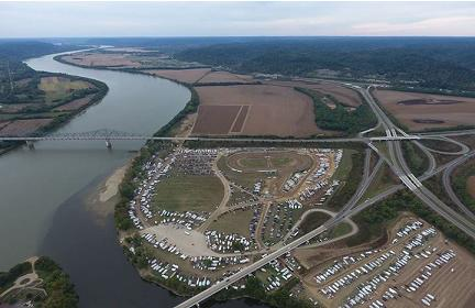 An aerial shot of the raceway